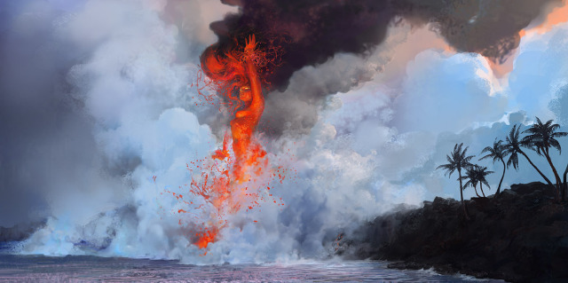 640x319_11606_Pele_2d_illustration_coast_lady_lava_volcano_fantasy_picture_image_digital_art